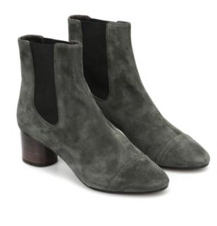 Isabel Marant Grey Suede Danae Ankle Boots