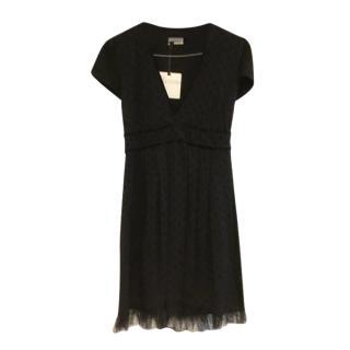 REDValentino Black Tulle Trim Dress