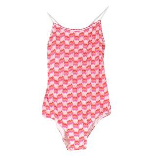 Missoni Kids Pink open-back Swimsuit
