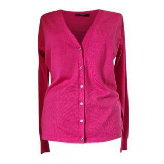 Weekend Max Mara Pink Cotton Cardigan