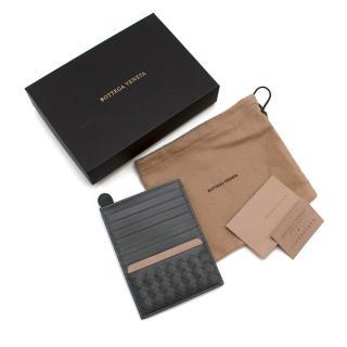 Bottega Veneta Grey Leather Card Holder