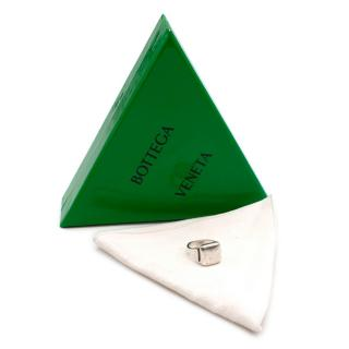 Bottega Veneta Sterling Silver Signet Ring - Size 19