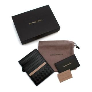 Bottega Veneta Black Leather Card Holder