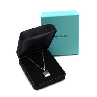 Tiffany & Co Sterling Silver Makers Square Pendant