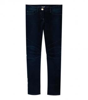 Balmain Black Denim Biker Jeans