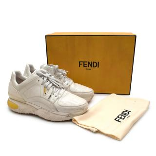 Fendi White Leather FF Chunky Trainers