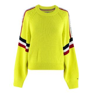 Tommy Hilfiger Jeans Neon Yellow Knitted Jumper