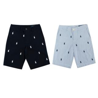 Polo Ralph Lauren Embroidered Cotton Shorts Set