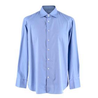 Emanuele Maffeis Blue Cotton Shirt