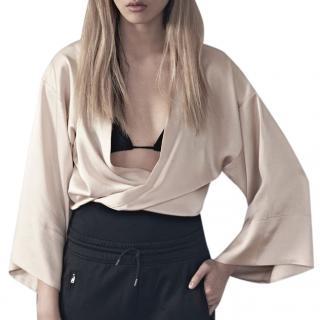 Filippa K Satin Cream Lucy Kimono Jacket