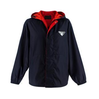 Prada Reversible Hooded Raincoat