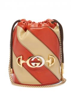 Gucci Zumi Colourblock leather bucket bag