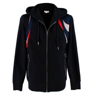 Alexander McQueen Black Cotton Zip-Up Hoodie
