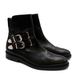 Toga Virilis Leather Western Buckle Boots