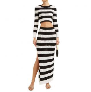Dodo Bar Or Black & White Striped Knit Margaret Top & Skirt
