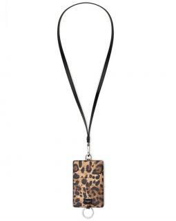 Dolce & Gabbana Leopard Print Leather Card Holder