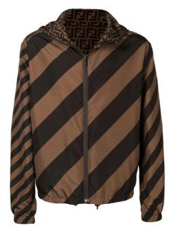 Fendi reversible FF/Diagonal Stripe windbreaker jacket