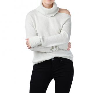 Paige Raundi Ivory & Silver Metallic Sweater