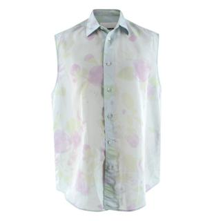 Jil Sander Men's Watercolour Print Sleeveless Shirt