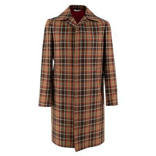 Bottega Martinese Multi-Colour Check Coat