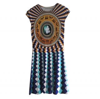 Mary Katrantzou Shield Print Sleeveless Dress