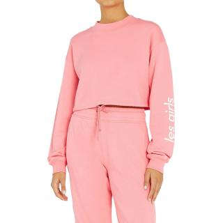 Les Girls Les Boys Cropped Oversize Sweatshirt