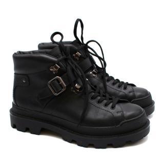 Prada Men's Chunky Black Leather Boots