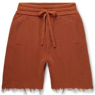 Alanui Raw Edge Cotton Shorts