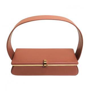 Victoria Beckham Tan Powder Box Top Handle Bag