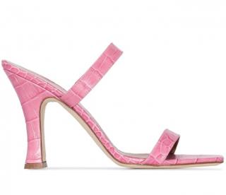 Paris Texas Pink 95 Mock Croc Leather Sandals