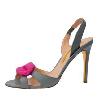 Rupert Sanderson Grey Frisa Sandals
