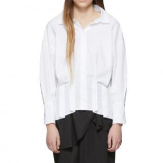 Enfold White Cotton Poplin Shirt