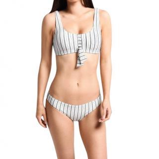 Seafolly Striped Chambray Tie Front Bikini