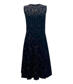 Roberto Cavalli Black Metallic Leopard Jacquard Dress