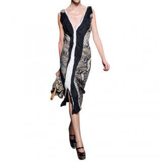 Prada Python Print Runway Midi Dress