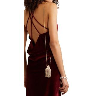 Rosantica Gold tone Crystal Embellished Orfea Mini Shoulder Bag