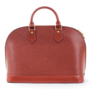 Louis Vuitton Brown Epi Leather Alma Bag