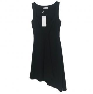 Osman Black Asymmetric Sleeveless Dress