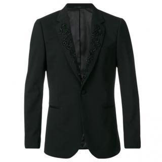 Paul Smith Black Embellished Slim Fit Tuxedo Jacket