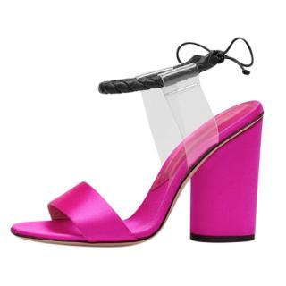 Paul Andrew Satin & PVC Sandals
