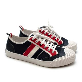 Thom Browne Low-Top Vulcanized Brogue Sneakers