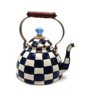 Mackenzie-Childs Royal Check Large Tea Kettle