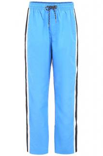 Burberry Blue Nylon Striped Joggers