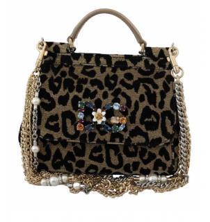 Dolce & Gabbana Shimmery DG Millennials  embellished SICILY Mini Bag