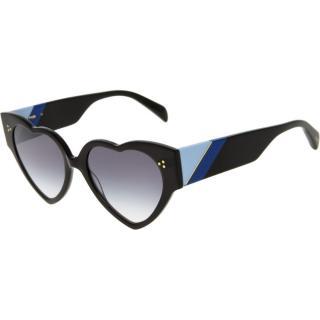 Maje Black Hella Heart Sunglasses