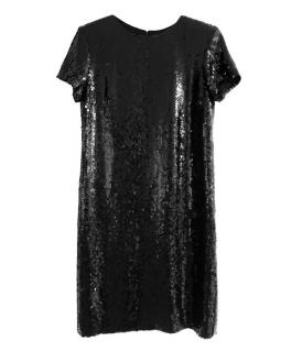 Chanel Black Sequin Shift Dress