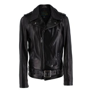 Schott Bros Waxy Natural Cowhide 50's Motorcycle Leather Jacket