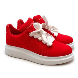 Alexander McQueen Red Oversize Cloth Trainers
