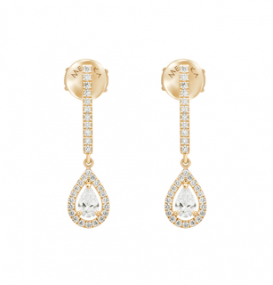 Messika Yellow Gold DIamond Joy Drop Earrings