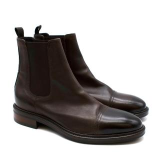 Paul Smith Brown Leather Chelsea Boots